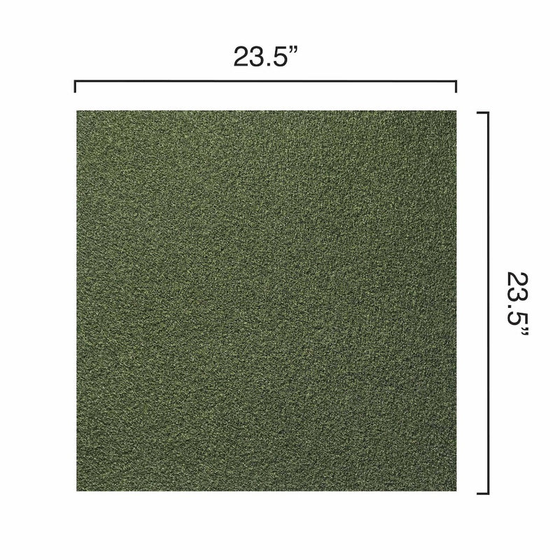 Sport Turf Synthetic Grass Tile Swatch Image Showing Dimensions