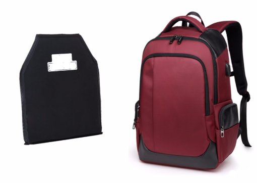Bullet Proof Backpack  NIJ IIIA Plate Red