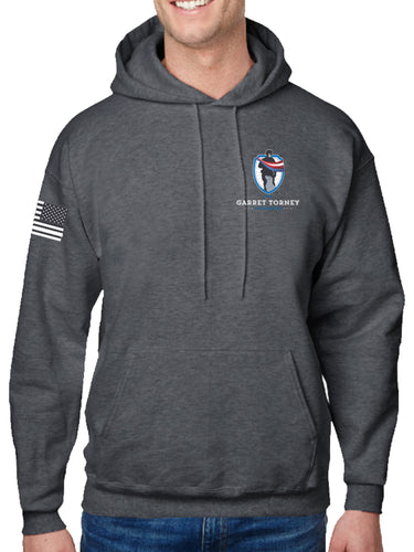 LIMITED EDITION NEW GTF Logo Dk Heather Grey Hoodie