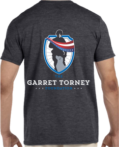 New GTF Logo Dk Heather Grey Shirt