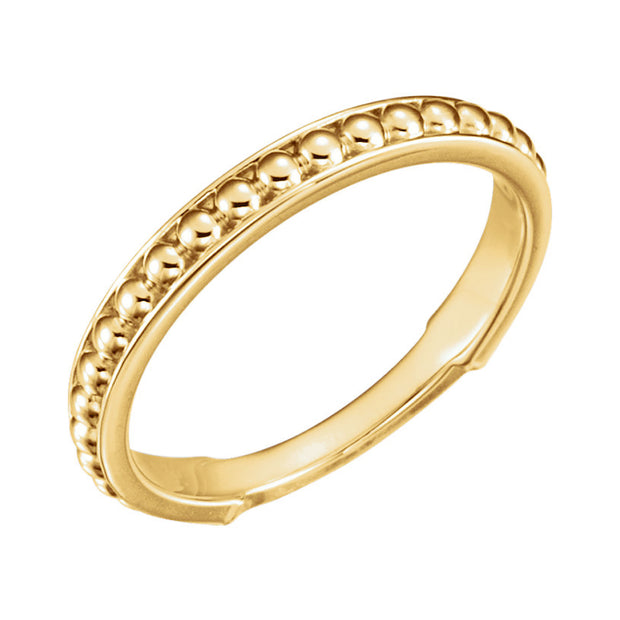 14k Beaded Stackable Ring