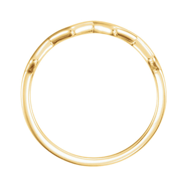 14k Wave Stackable Ring