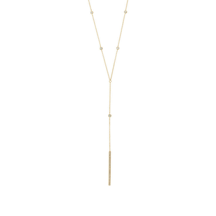 "14K Diamond ""Y"" Necklace 1/3 CTW"
