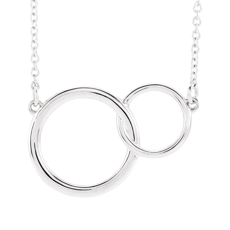14k Interlocking Circles Necklace
