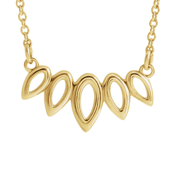 14k Leaf Style Necklace