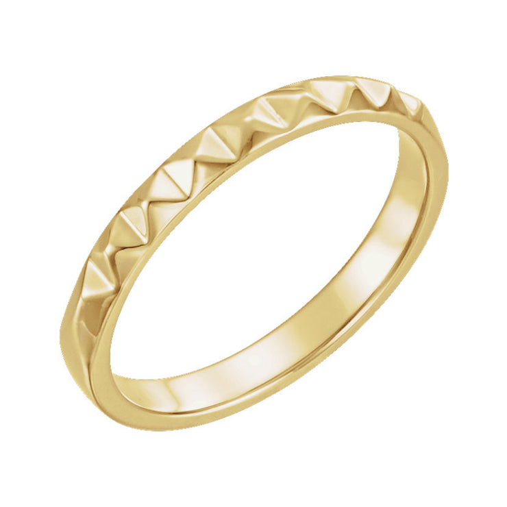 14k Stackable Pyramid Ring