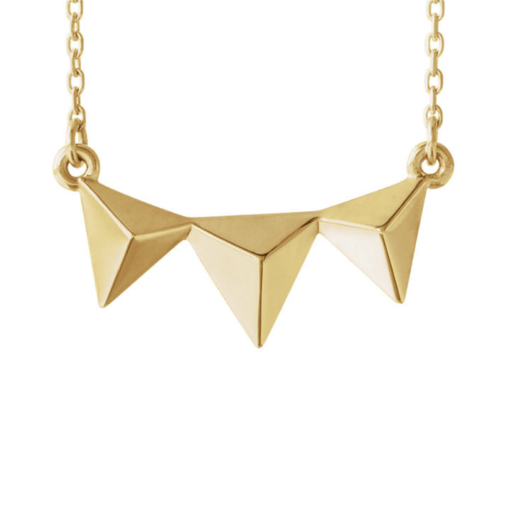 14k Pyramid Necklace