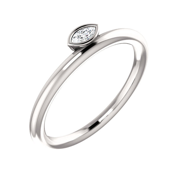 14k Asymmetrical Stackable Ring .07 CTW