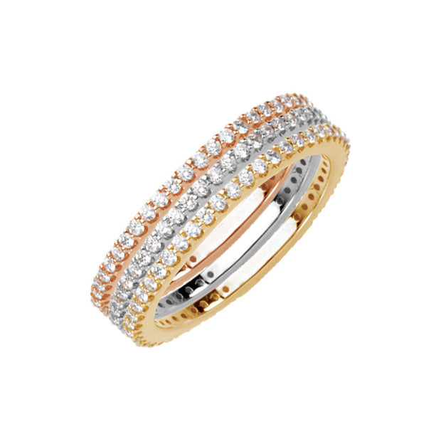 14K Diamond Stackable Ring 1/3 CTW