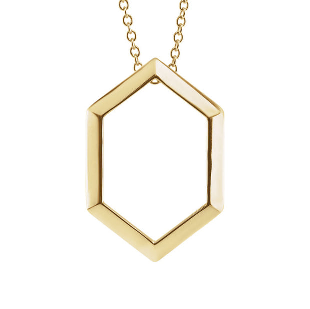 14k Geometric Necklace