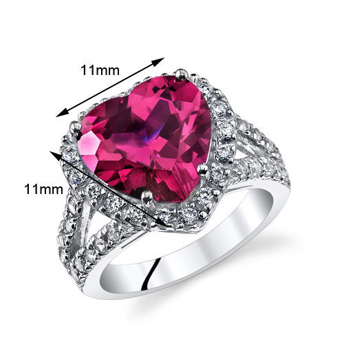 Heart Shape Ruby Ring 6.25 CTW.