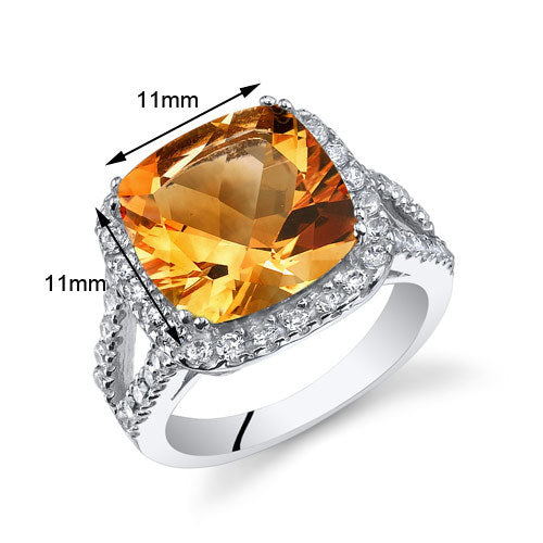 Citrine Sterling Silver Ring 4.75 Carats