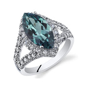 Alexandrite Sterling Silver Ring  3.50 Carats