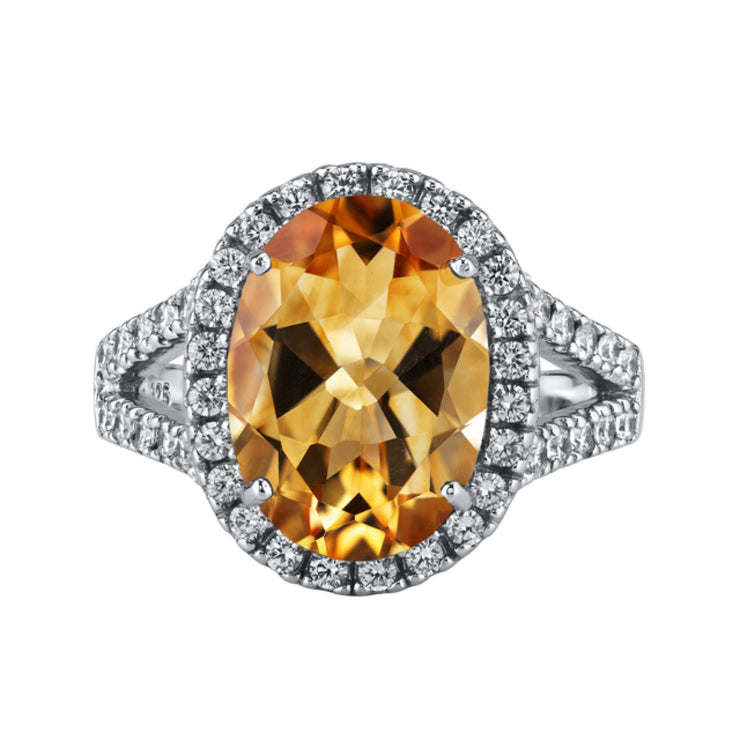 Citrine Sterling Silver Ring 5.25 Carats