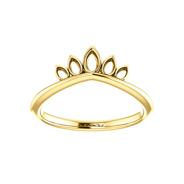 14k Marquise-Shaped Crown Ring