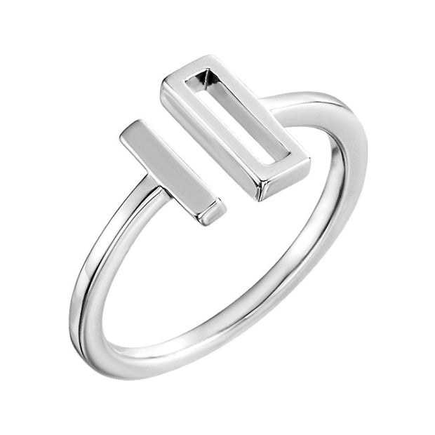 14k Open Top Double Bar Ring