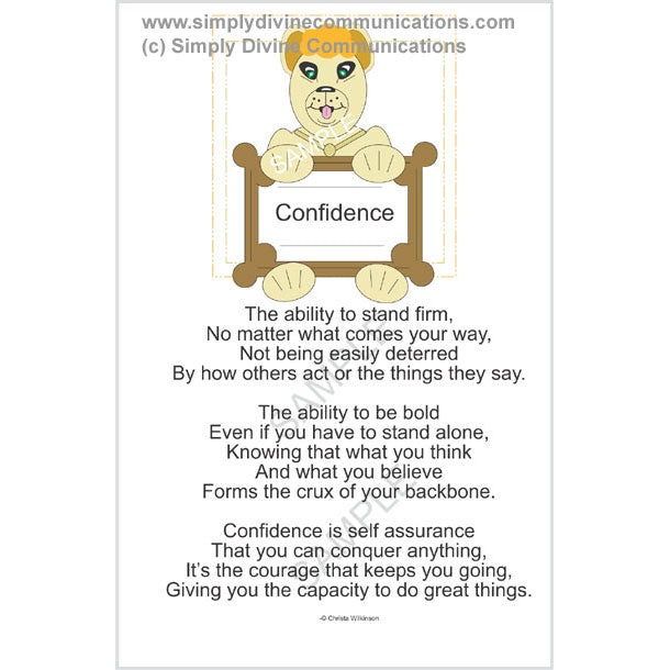 Confidence Rack Card - Free With Purchase