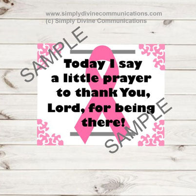 Say A Prayer - Breast Cancer Plaque