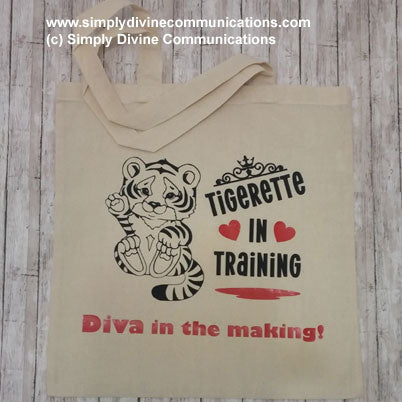 Tigerette in Training Tote Bag