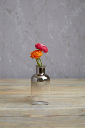 Aptar mercury dipped glass vase