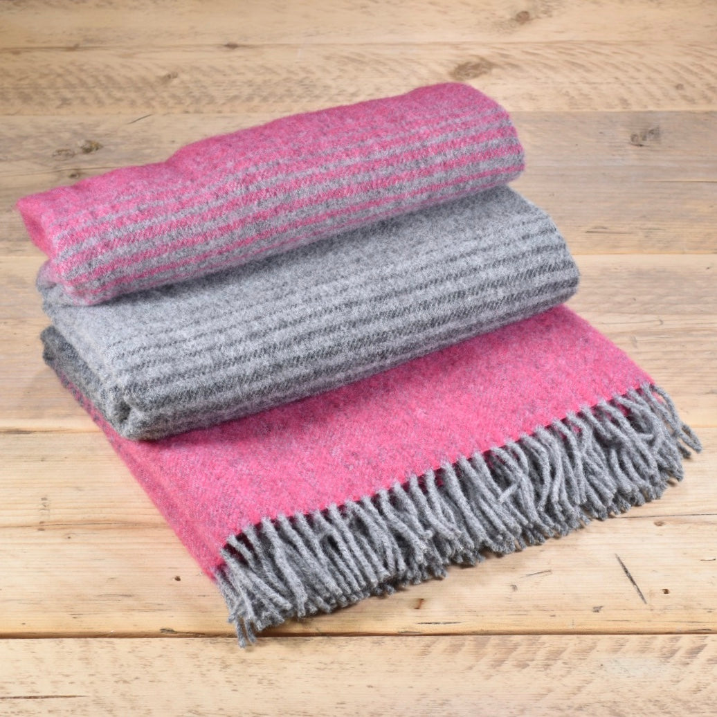 Starry night wool throw - Pink