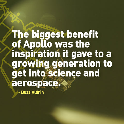 The biggest benefit of Apollo was the inspiration it gave to a growing generation to get into science and aerospace. Buzz Aldrin