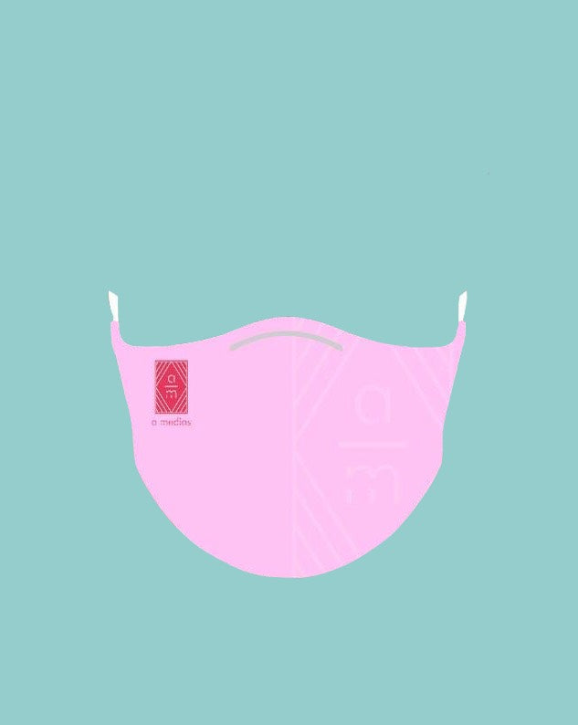 A Medias Pink Face Mask with filter