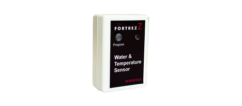 Fortrezz Flood Sensor White with Buzzer Z-Wave 300 Series