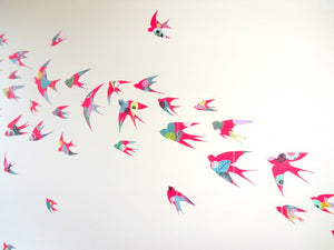 Flight of swallows - original artwork - 70cm x 100cm