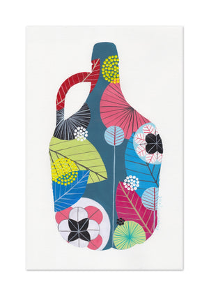 5L Wine Bottle (blue) print