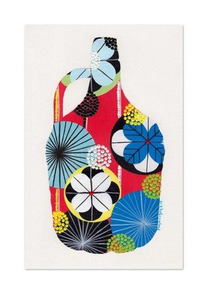 5L Wine Bottle (red) print