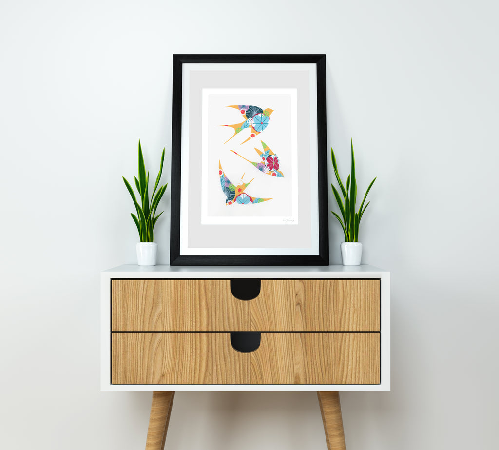 Swallows (Yellow #2) print