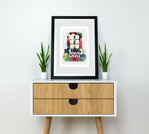 Lisbon Window (black) print