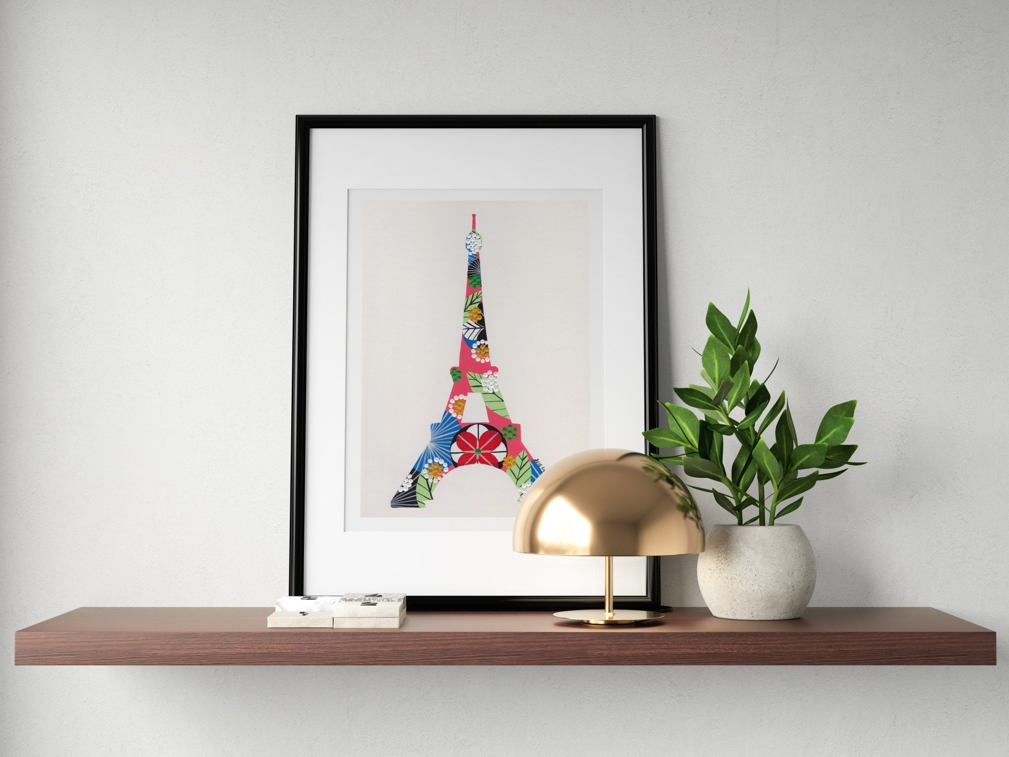 Eiffel Tower (Pink) print