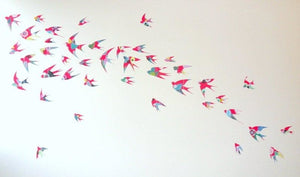 Flight of swallows - original artwork - 100cm x 150cm
