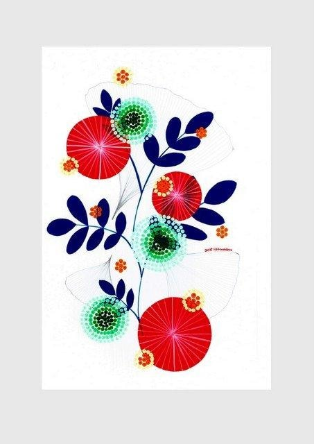 Ginko (red) print