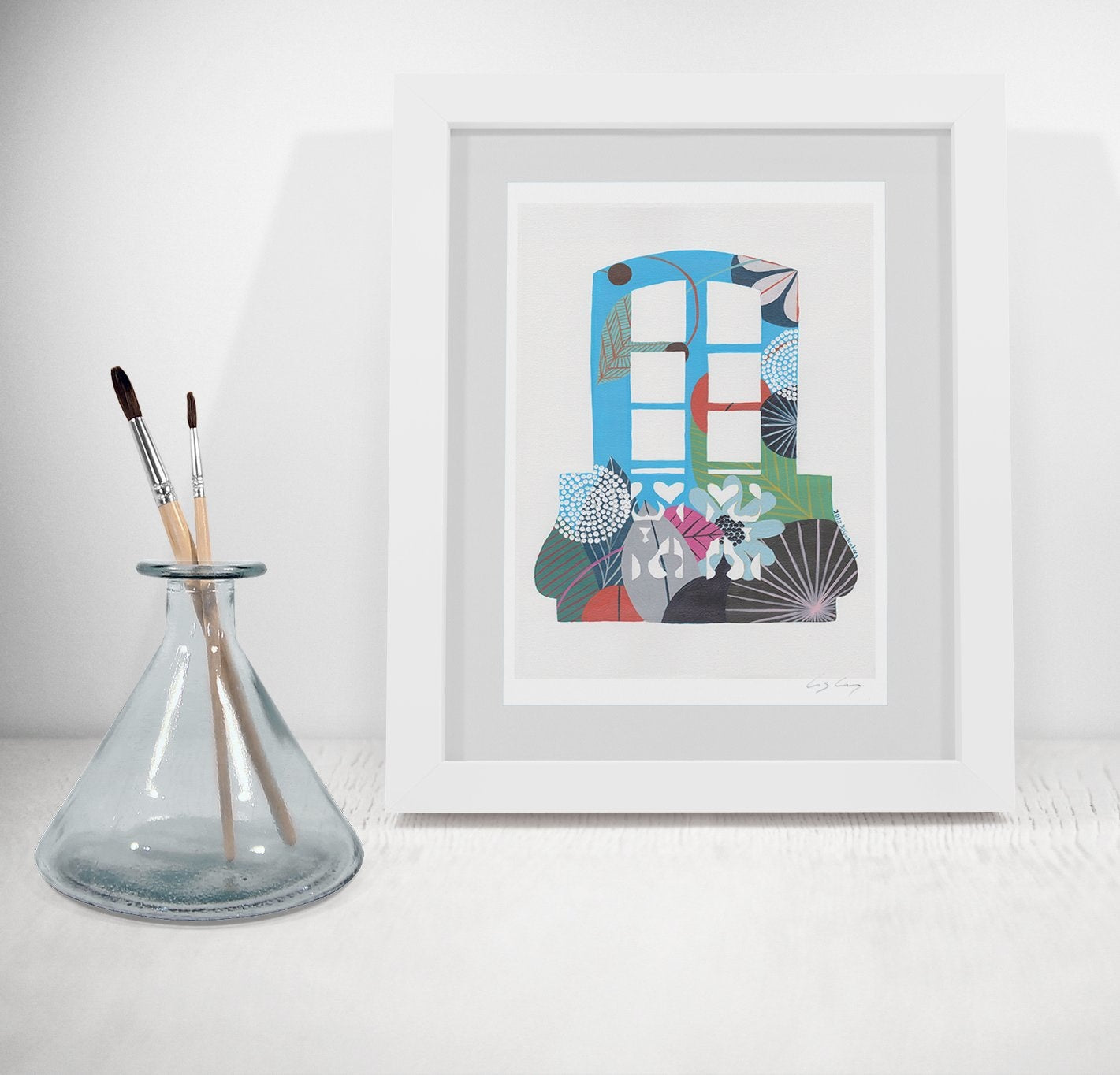 Lisbon window print (blue)