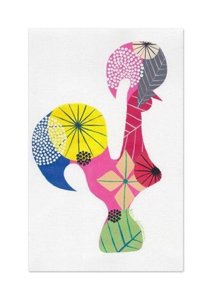 Portuguese Rooster (pink) print