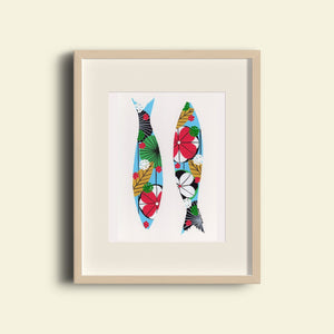 Sardines (light blue) print