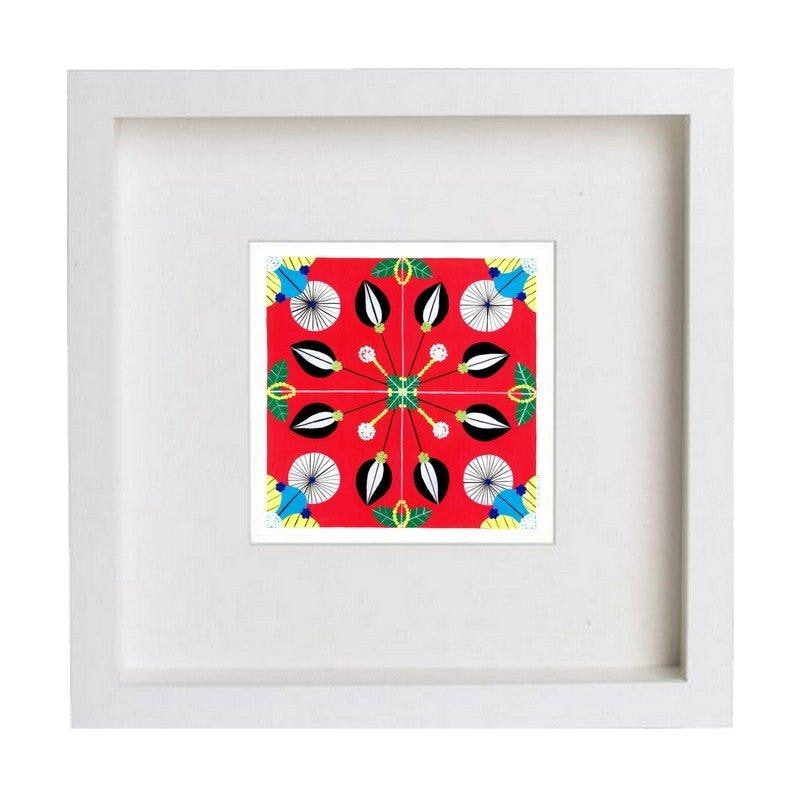 Tile giclée art print - red