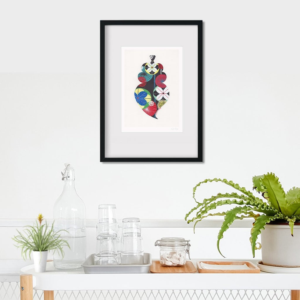 Portuguese Heart fine art print in black