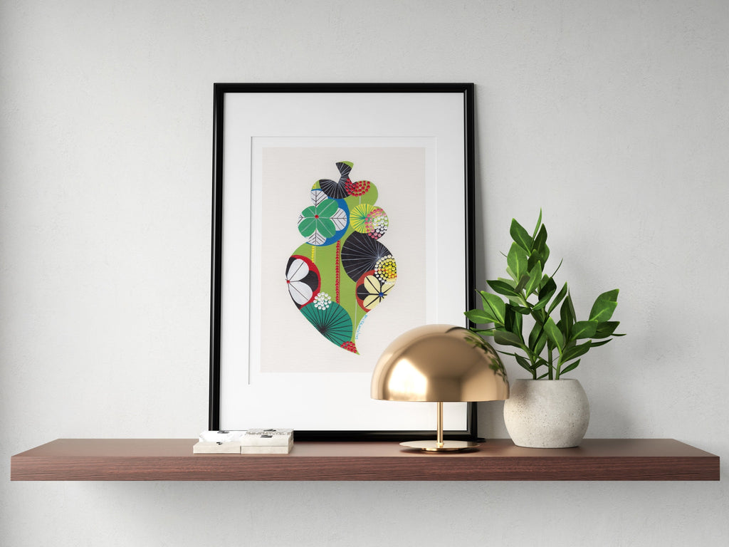 Portuguese Heart fine art print in green