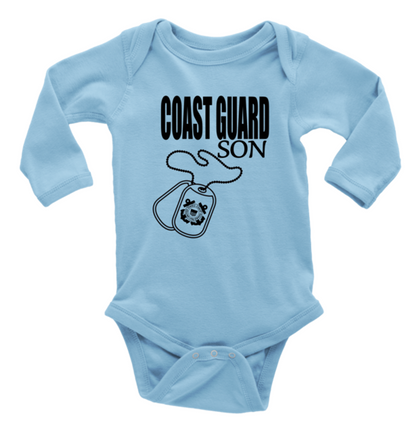 Military (Long Sleeve Baby Bodysuit)