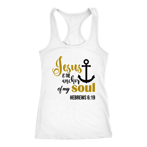 """Jesus Is The Anchor..."" Women's Racerback Tank"