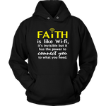 Faith is like WiFi Unisex Hoodie