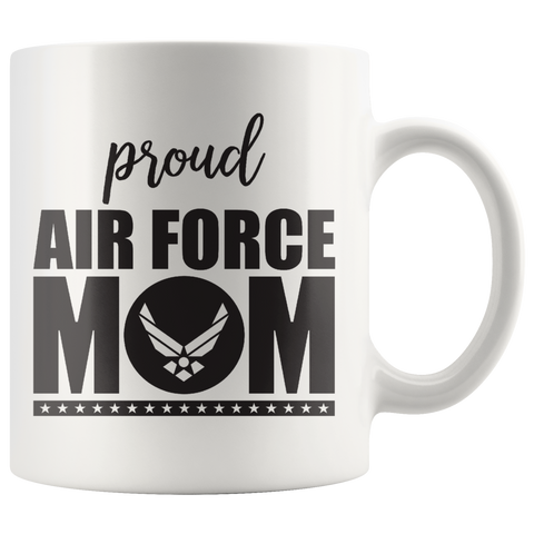 """Proud Air Force Mom"" (White 11oz Mug)"