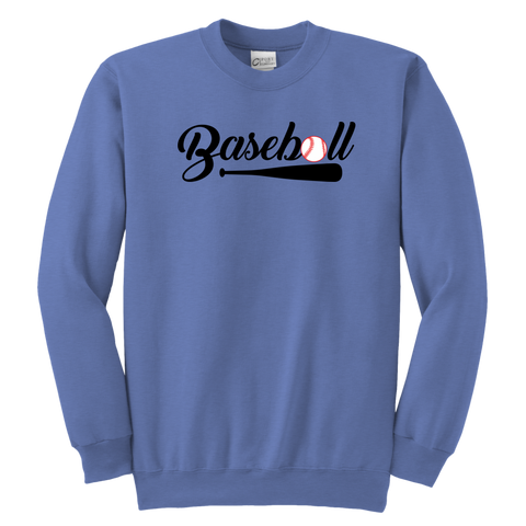 Youth Baseball Crewneck Sweatshirt