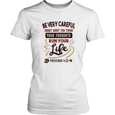 """Be Careful About What You Think..."" Women's V-Neck T-Shirt"