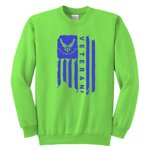 Air Force Veteran Youth Crewneck Sweatshirt