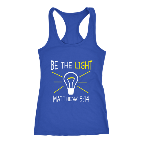 """Be The Light"" Women's Racerback Tank"